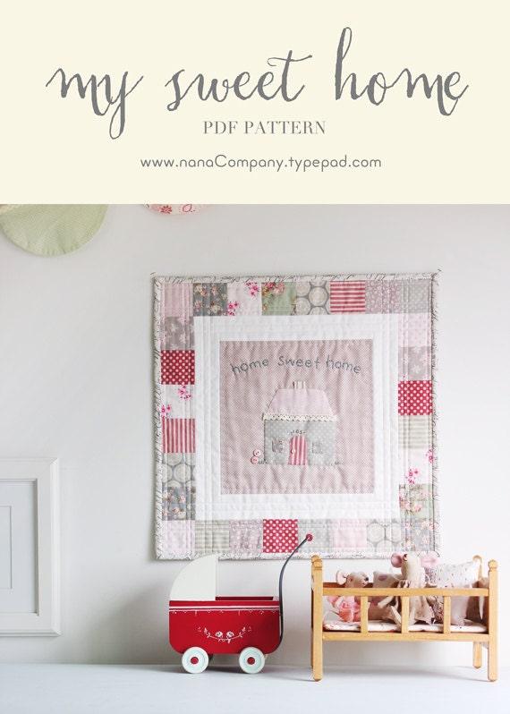 my sweet home pdf pattern. Black Bedroom Furniture Sets. Home Design Ideas