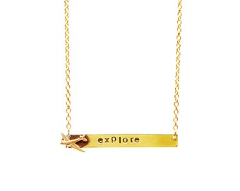 Explore Bar Necklace