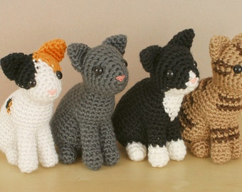 Special Deal - AmiCats Collection - 4 amigurumi cat PDF CROCHET PATTERNS