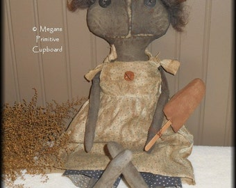 Primitive Summertime Black Doll with Fudge Pop Handmade Prim Grungy Extreme