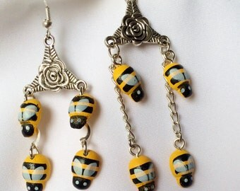 Save The Bees Earrings  Bumble Bees  Dangle Earrings                  2 Styles to choose from
