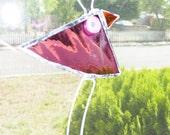 Suncatcher Folk Art Bird Stained Glass