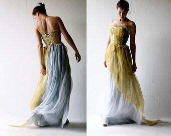 Wedding dress, Alternative wedding dress, Boho wedding dress, Bohemian wedding dress, color wedding dress, wedding gown, corset wedding gown