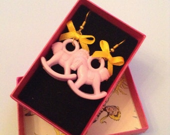 MY LITTLE PONIES Candy Coloured Rocking Horse Earrings