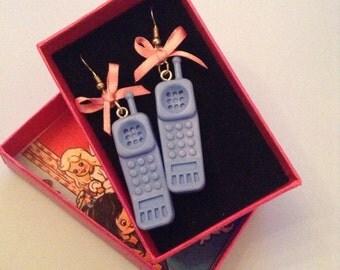 CALL ME Kitsch Blue Telephone Earrings