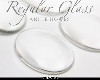Large clear glass cabochons. Clear Glass Shapes for Magnets, Mosaics, Pendants and More. 30mm x 40mm Regular Glass. 25 Pack