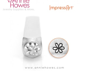 Impressart Metal Stamp for Jewelry Stamping - Large Flower Shape