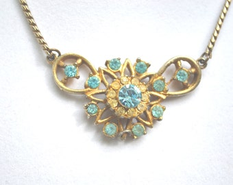 Rhinestone Choker, Vintage Choker, Vintage Necklace, Rhinestone Necklace, Gold Necklace, Crystal Necklace, Rhinestone Choker,Choker Necklace