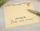 75 Rustic Farmhouse Chic KRAFT Advice Cards for the Bride and Groom  - Wedding Cards