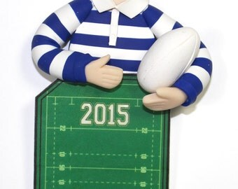 Rugby Player Ornament