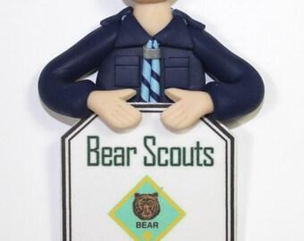Bear Scout Bust Ornament