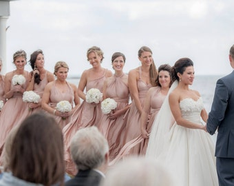 ALL sizes   ANy color  CUSTOM Infinity dress  HANDMADE to fit each bridesmaid Twobirds Rosewater blush slate rosegold gold champagne neutral