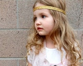 Gold Braided Boho Headband || Adult Bohemian Head Wrap || Child Halo Crown || Baby headband