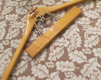 Vintage Wooden Suit Hanger - Setwell Heavy Duty Hanger - 1970s Closet Storage