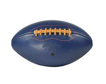 Big Blue Leather Head football,  Sports, Play, Handmade (F1-BB-Red)