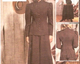 Historical costume jacket culottes blouse History theatre Butterick 3386 sewing pattern Sz 6 to 10 UNCUT