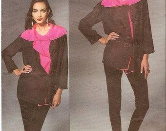Designer Issey Miyake Tunic and pants Vogue 1278 Size 12 to 20 UNCUT Original High Fashion DIY Casual Chic