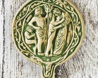 An Etruscan Wall Tile Representing The Ritual of the Slain God - Historical Reproduction - Old Religion of Italy