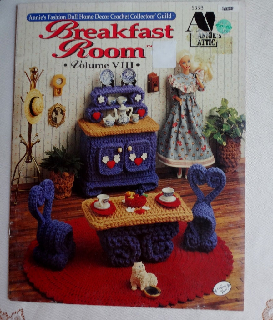 Vintage Crochet Book Annie's Fashion Barbie doll Breakfast
