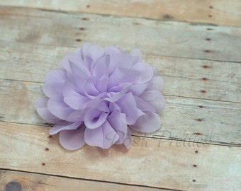 Lavender Flower Hair Clip - Petal Flower- Flower Hair Clip - Alligator Clip - With or Without Rhinestone Center