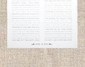 Custom Wedding Vow PDF