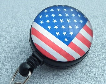 Flag ID Badge Reel - Name Badge Holder 207