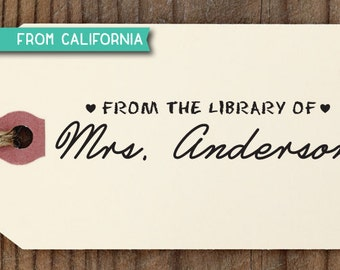 Library Stamp, CUSTOM RUBBER STAMP with proof from usa, custom self inking stamp, book lover, teacher, book worm,  library stamp 184 (r203)