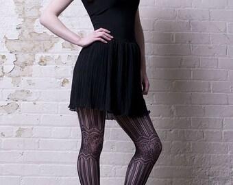 Black Rayon and Chiffon Summer Dress-Made to order