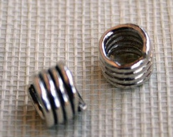 Slide Coil Artisan Handcrafted Sterling Silver Bead