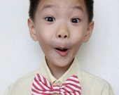 CandyCane Clip-On Bow Tie