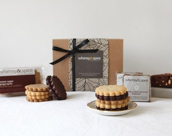 Gourmet Cookie Gift Box, Whimsy and Spice Classic Sampler - cookies, biscotti, brownies