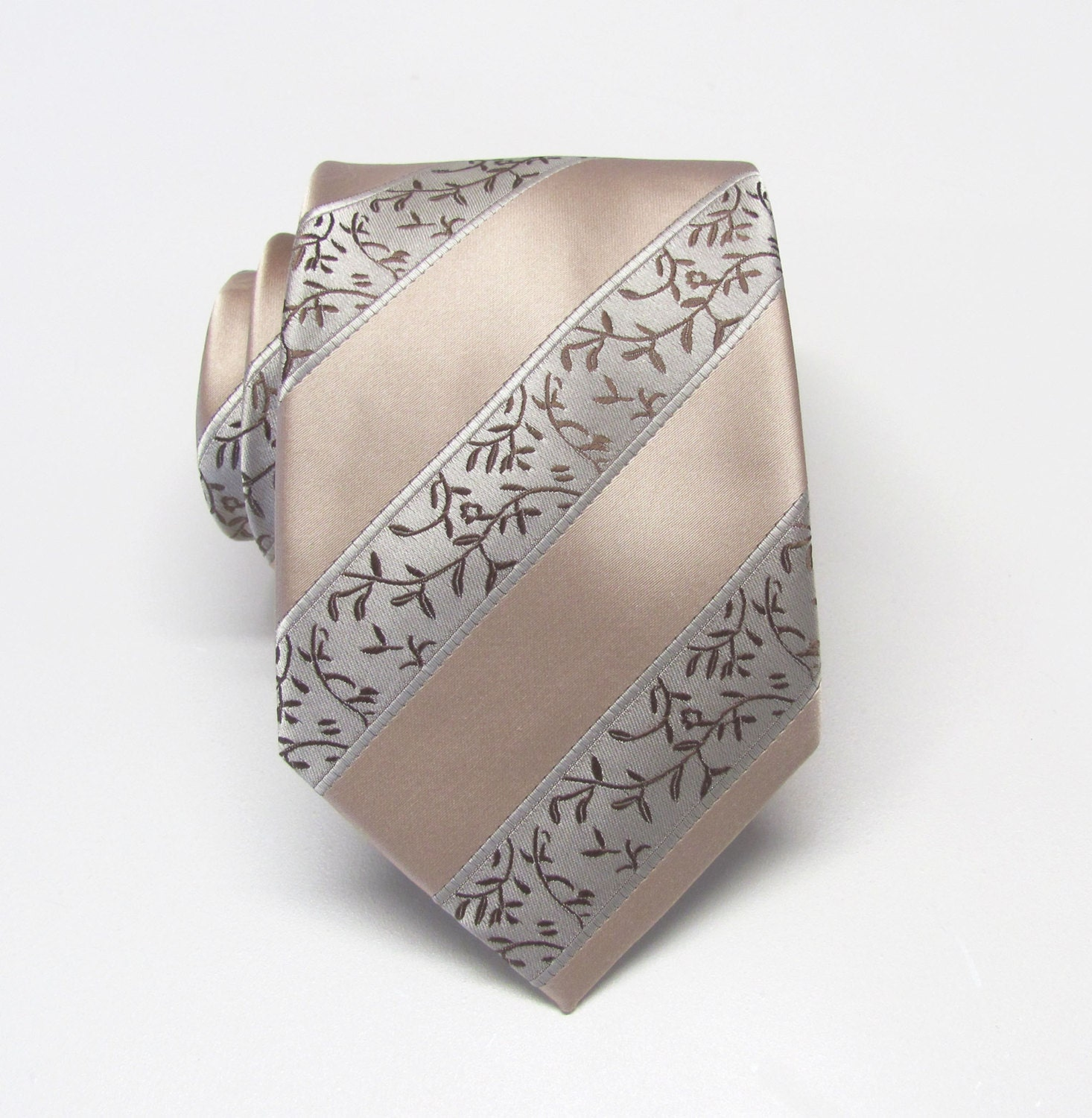mens tie wedding neckties taupe stripe mens tie