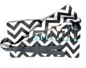 Large Makeup Brush Roll Holder, Chevron Black/White - In Stock Ready To Ship