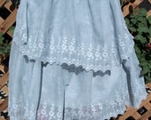 Vintage 20s Flapper Cotton Lawn Tea Dress Tiered Lace Goth Spanish Moss Project
