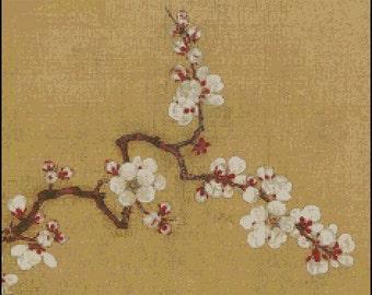 CHERRY BLOSSOM cross stitch pattern No.181