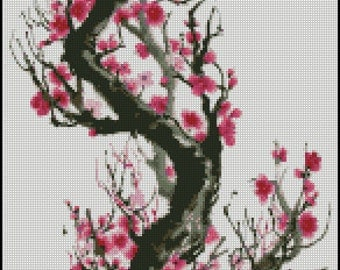CHERRY BLOSSOM cross stitch pattern 201
