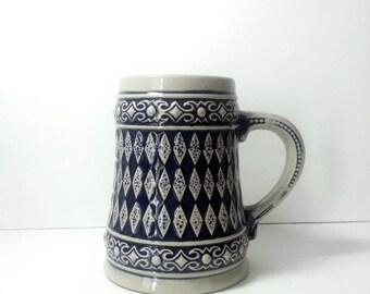 Gerzit beer stein german ceramic vintage kitchen beer mug