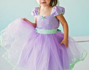 LAVENDER dress lavender TUTU  DRESS with mint green skirt for  toddler girl birthday party  portrait flower girl special occasion pink dress