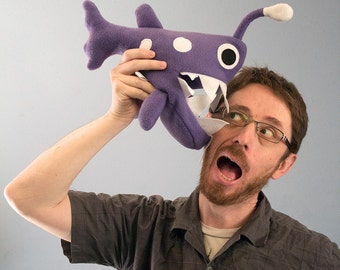 Small Angler Fish Plush - Purple