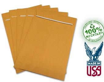 "6""x9"" Kraft Envelopes with Peel-N-Seal - Bio-Degradable!"