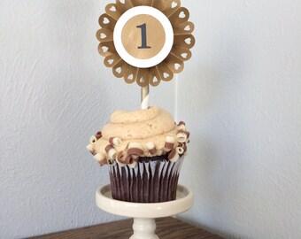 Pinwheel Cupcake Toppers