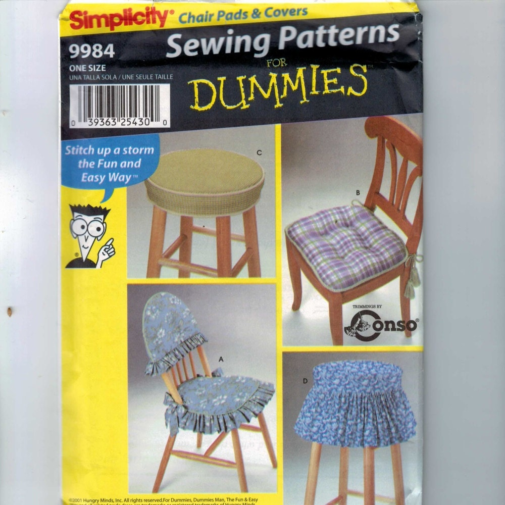 Home Decor Sewing Pattern Simplicity 9984 Chair Pads And