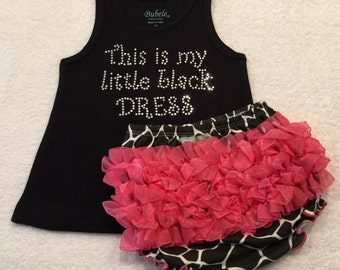 Black Rhinestone Tank Dress With Bloomers