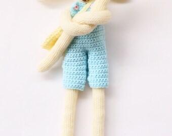Knitted dolls, crochet bunny toy, bunny, doll, doll clothes, crochet clothes, soft toys, knitted toys, Easter bunny, bunny toys