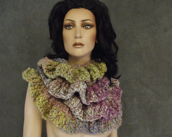 Accessory, Long Scarf, Neckwarmer,Crochet Wrap,Women,Winter,Multi-color,