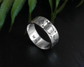 Incantare - Unisex Stamped Sterling Silver Ring
