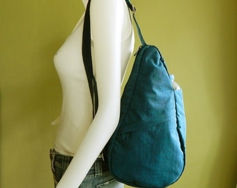 Sale - Dark Teal Water-Resistant Nylon Bag - Cross body, Shoulder bag, Messenger bag, Tote, Travel bag, Women - SLING