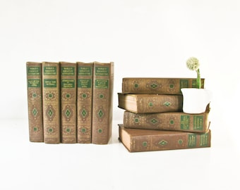 Vintage Book Set, World's Greatest Literature , Volumes 1- 9, Hardcover 1936
