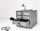 industrial metal drawer cabinet | studio storage