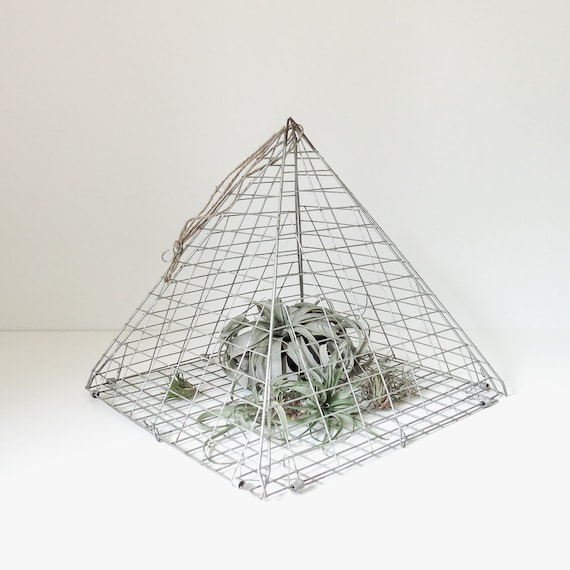 vintage wire pyramid trap hanging display